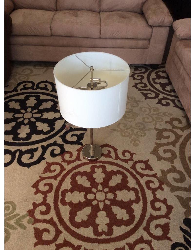 Lamp / silver n white