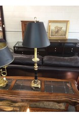 Tall table lamp / black n brass