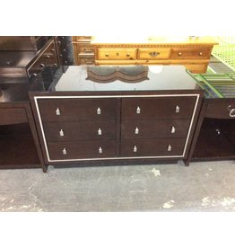 6 drawer dresser / espresso n glass