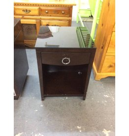 1 drawer nightstand / espresso n glass