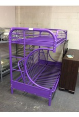 Bunk bed / twin w futon - purple