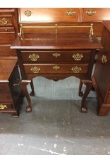 2 drawer end table / brass