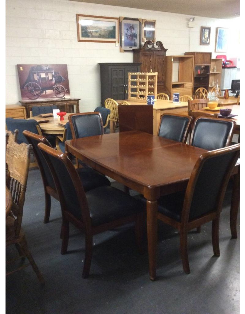 7 piece dinette /  cherry black padded