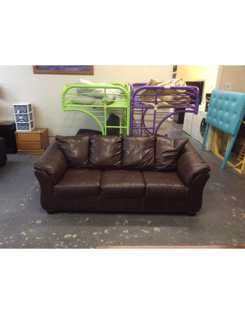 Sofa /  brown faux