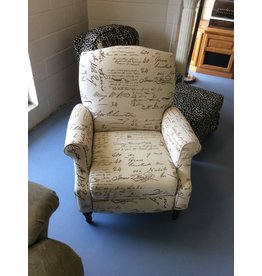 Recliner / w writing