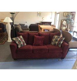 Sofa /  burgundy n tweed
