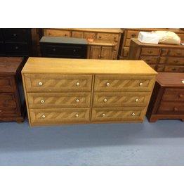 6 drawer dresser / w bamboo