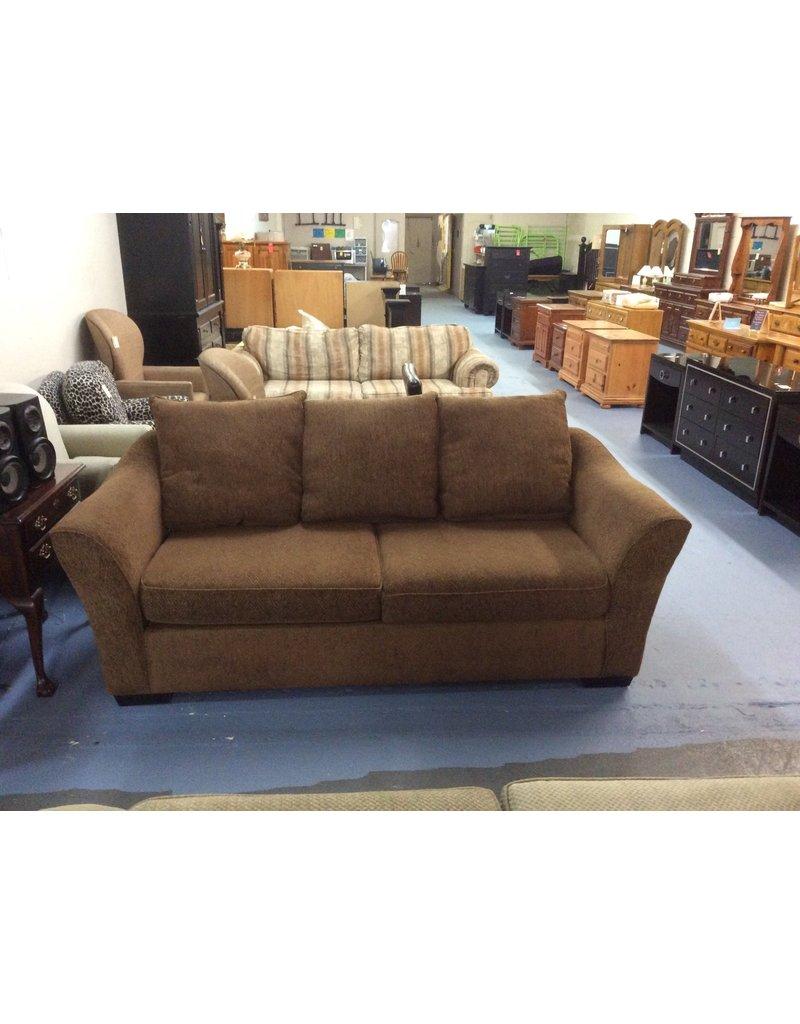 Sofa / brown w pattern