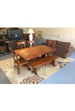 5 piece dinette w bench seat / oak