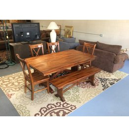 5 piece dinette w bench seat / oak