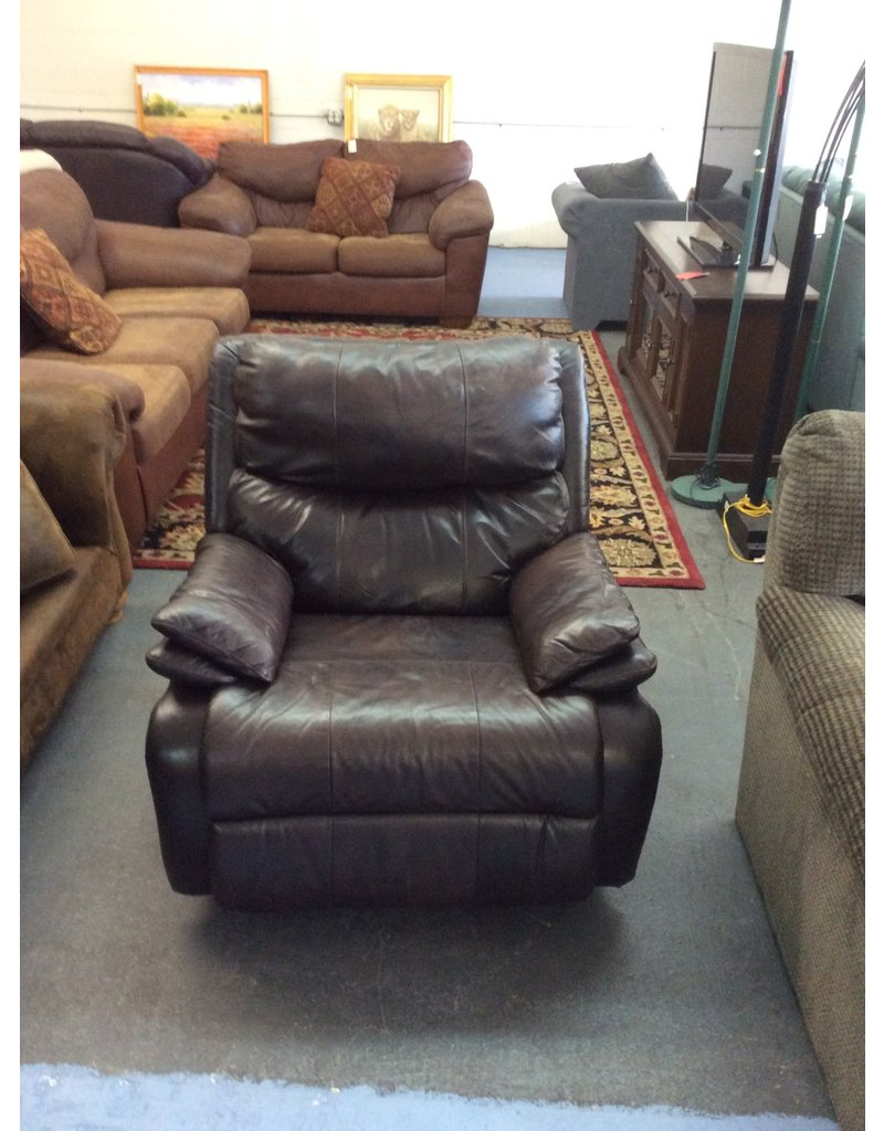 Recliner / brown leather - 13