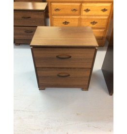 2 drawer nightstand / brown
