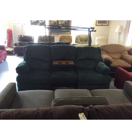 Dual reclining sofa / green w cup holders