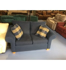 Loveseat / blue tweed