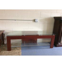 TV stand / cherry n glass