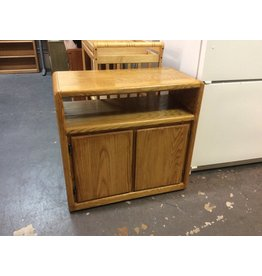 Microwave cart / oak 2 doors
