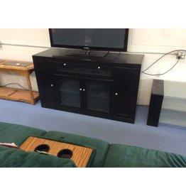 TV stand / black w 2 doors