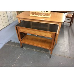 Fold down sideboard table