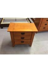 3 drawer nightstand / cherry oak