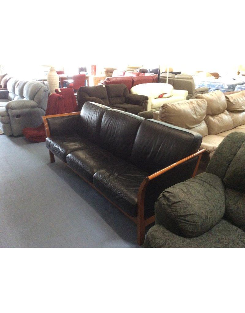 Sofa /  black n wood