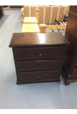 3 drawer chest /  dark