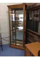 6' glass curio