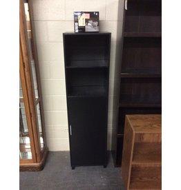 1 door black cabinet