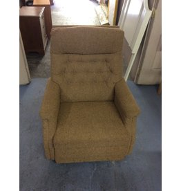 Rocker recliner /  brown tweed
