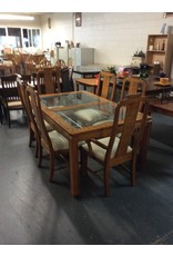 7 piece dinette / glass padded