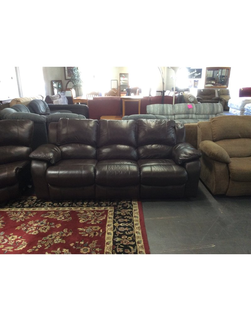 Sofa / dual recliner, brown leather