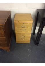 2 drawer file cabinet / light oak