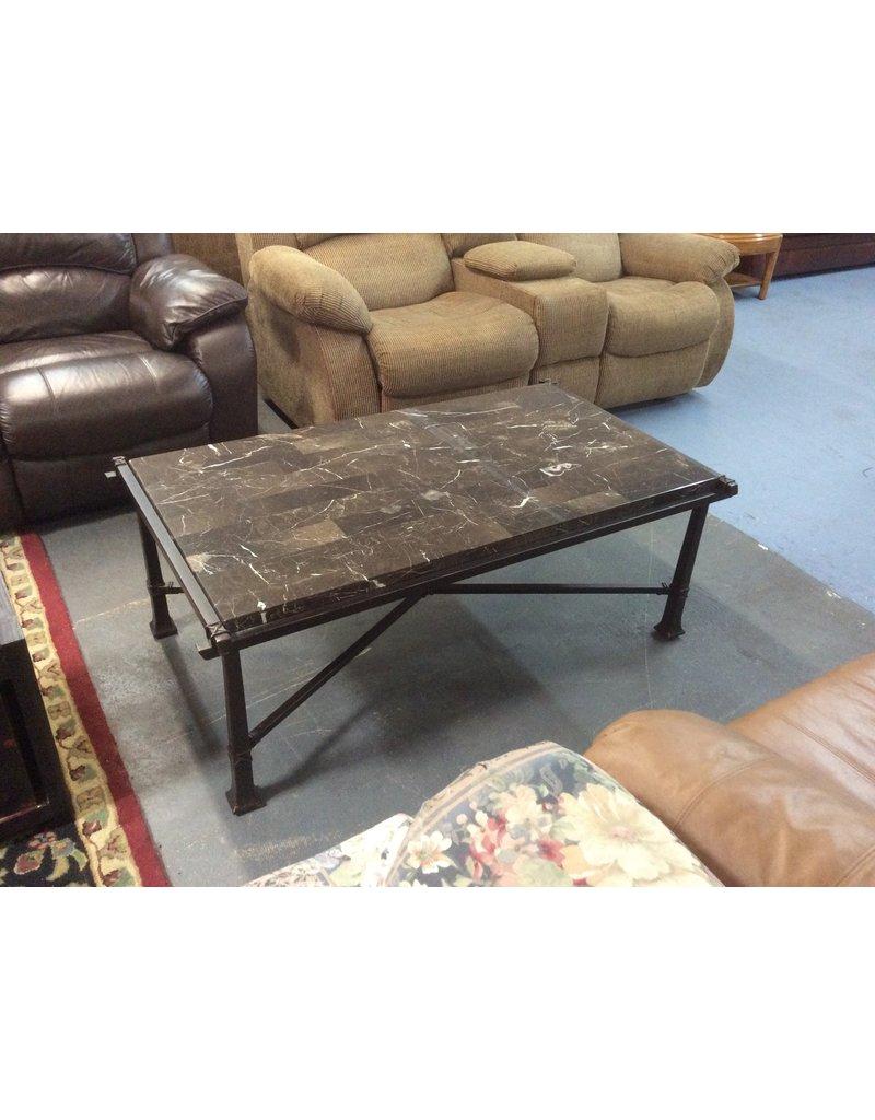 Coffee table / granite n metal