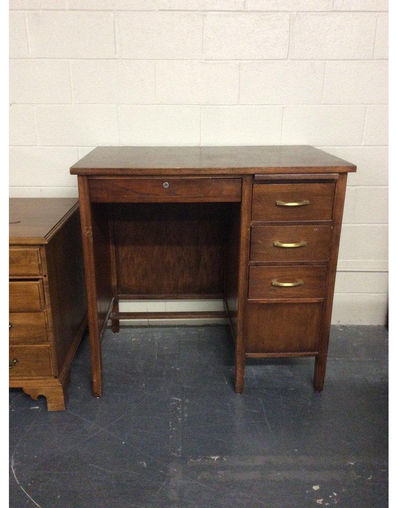 Tall single ped desk