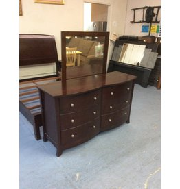 6 drawer dresser /  espresso w mirror