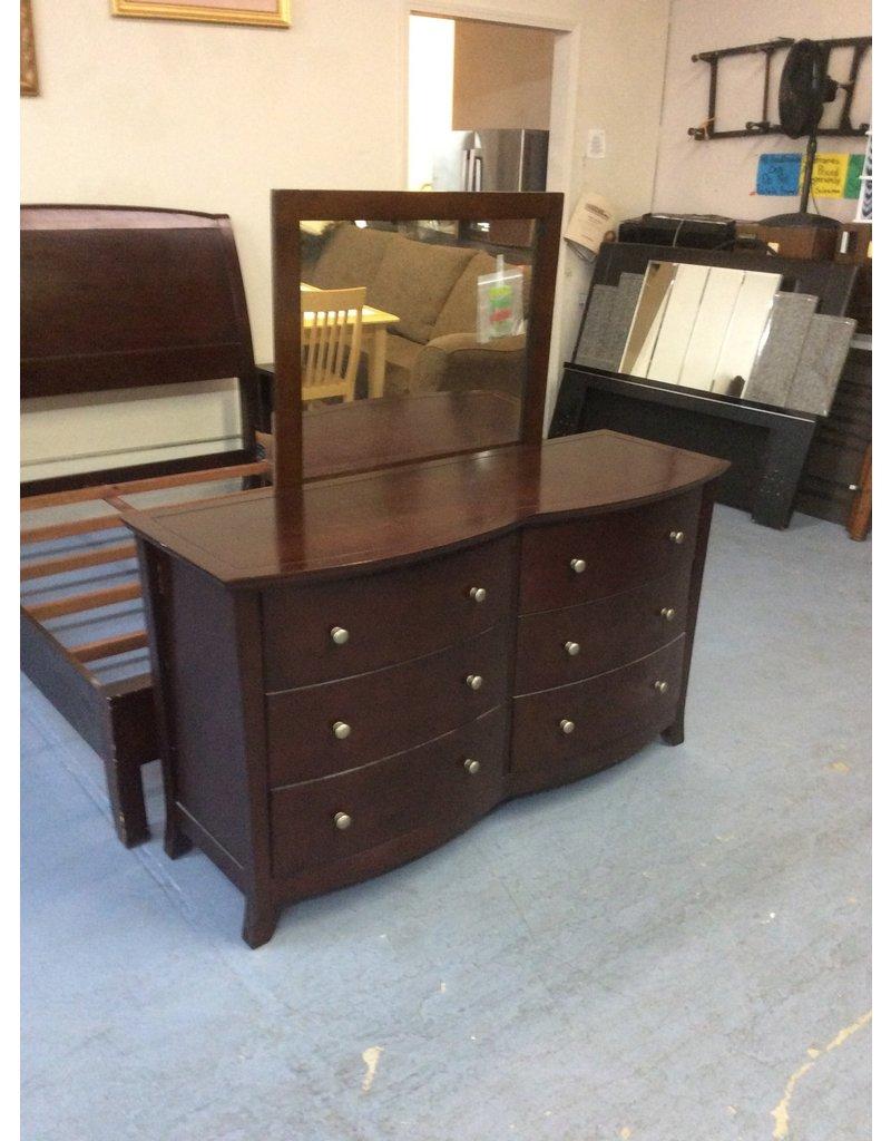 6 drawer dresser /  espresso w mirror