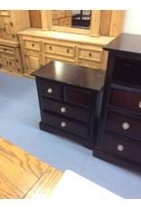 3 drawer nightstand /  espresso