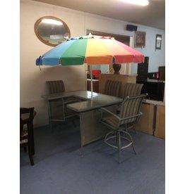 5 piece patio set w umbrella