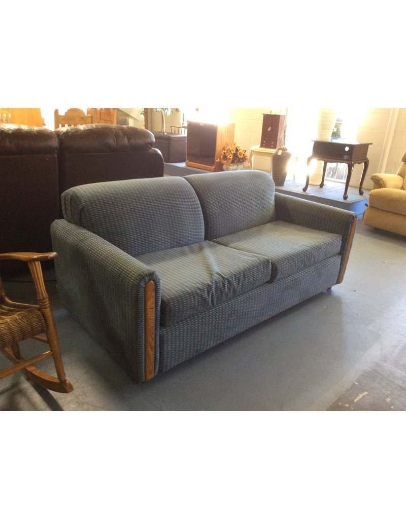 Loveseat / w full size bed, blue