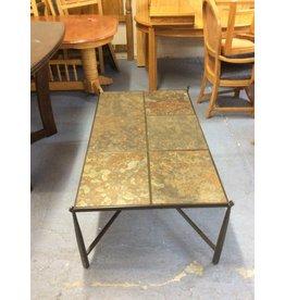Coffee table / slate n metal