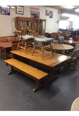6 piece dinette / bench, 4 chairs pine