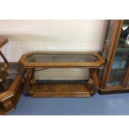 Sofa table /  oak n glass