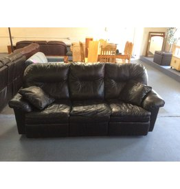 Dual reclining sofa / black leather