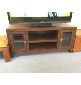 TV stand / 2 door dark oak