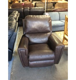 Recliner / lazyboy brown leather n faux