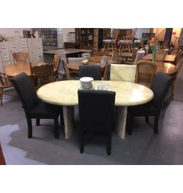 5 piece dinette/ w leaf, yellow