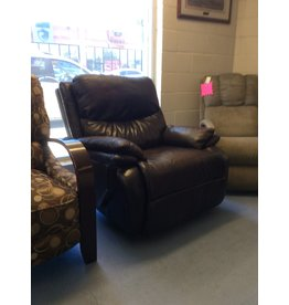 Rocker recliner / brown leather