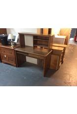 1 drawer desk w hutch / oak wrap