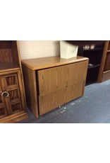 2 drawer file cabinet / oak wrap