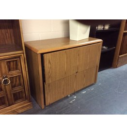 2 drawer file cabinet / oak wrap