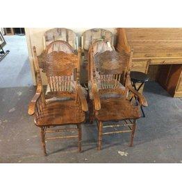 Pair chairs / oak
